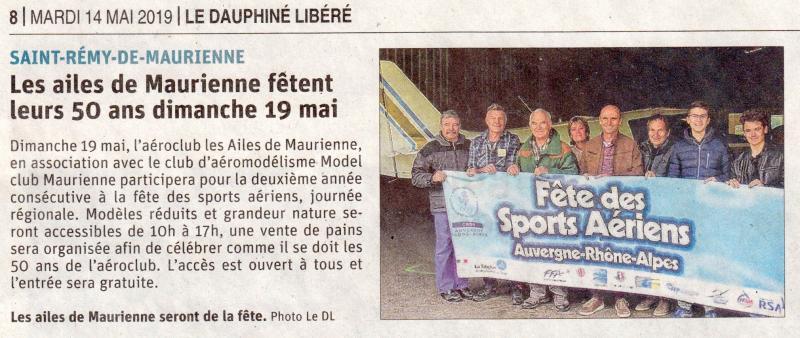 Dauphiné Libéré du 14 mai 2019