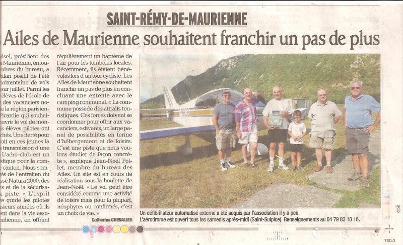 Le Dauphiné libéré du 31 août 2012