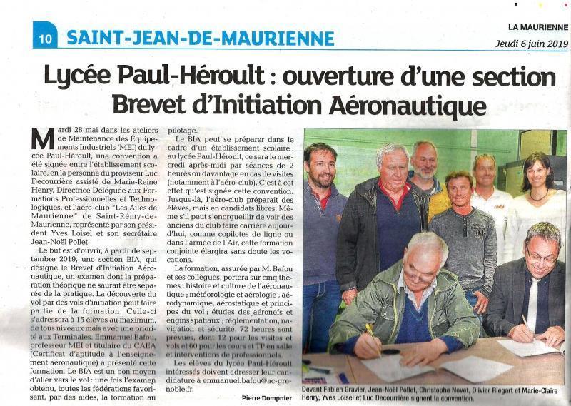 La Maurienne du jeudi 6 juin 2019