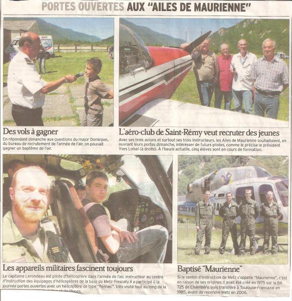 Journée portes ouvertes 2011 - compte rendu Dauphiné Libéré 30/05/2011